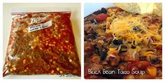 Slow Cooker Freezer Meals: Makes 8 Meals in 1 Hour! | Six Sisters' Stuff black bean taco soup