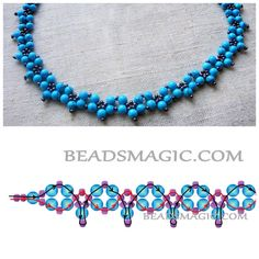 Schema for easy necklace ~ Seed Bead Tutorials
