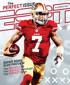 ESPN The Magazine Colin Kaepernick cover Fsu Baseball, Baseball Scores, Nfl Football, Football Helmets, Indians Baseball, Football Program, Baseball Players, American Football, Hockey