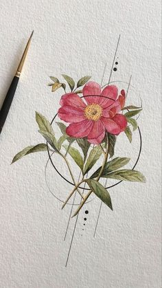 Flowers Watercolor Paintings Circle 18 Best Ideas tattoo designs ideas männer männer ideen old school quotes sketches Art Floral, Tattoo Drawings, Art Drawings, Simple Drawings, Tattoo Sketches, Tattoo Fleur, Tatuagem Diy, Aquarell Tattoo, Flower Circle