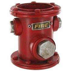 Accent decor with this Red Metal Fire Hydrant Pen Holder. Perfect for collecting and storing pens on desks, work stations and more. Measurements: 4 wide x 4 tall; Art Craft Store, Craft Stores, Firefighter Bar, Fireman Nursery, Fire Truck Room, Bar Lounge, Lounge Ideas, Dog Rooms, Pen Holders