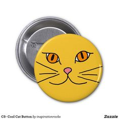 CS- Cool Cat Button