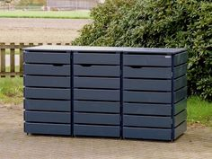 Mülltonnenbox Holz 120 Liter - New Ideas Bike Storage, Shed Storage, Storage Bins, Garbage Can Storage, Garbage Shed, Outdoor Jobs, Outdoor Landscaping, Outside Storage, Outdoor Storage