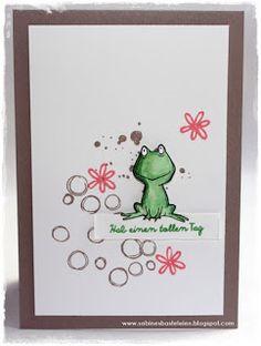 ... heißt dieses knuffige Set mit dem Frosch.   Für den Hintergrund habe ich   Swirly Bird   und Playful Backgrounds   benutzt.           ...