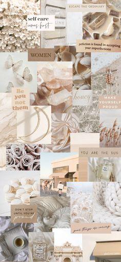 cream collage wallpaper