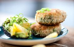 Make fish cakes at home using Bruno Loubet's irresistable recipe. The chef serves the fish cakes with crushed avocado, making a truly sublime lunch