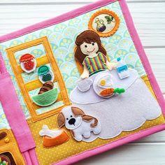 Book Activities, Toddler Activities, Quiet Book Patterns, Felt Quiet Books, Baby Sewing Projects, Busy Book, Book Girl, Felt Animals, Felt Crafts