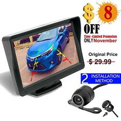 Backup Camera and Monitor Kit For Car,Universal Wired Waterproof Rear-view MA
