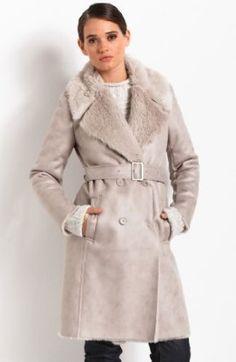 Faux Shearling Coat For Women