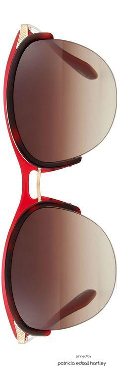 Barton Perreira Seraphina Half-Rim Mirrored Sunglasses