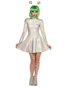 Find scary-good deals on the Halloween Dresses you need to complete your costume look. Remember: No one does Halloween better than Spirit. Girl Alien Costume, Alien Halloween Costume, 2017 Halloween Costumes, Purim Costumes, Spirit Halloween, Halloween Outfits, Allien Costume, Family Costumes, Halloween Halloween