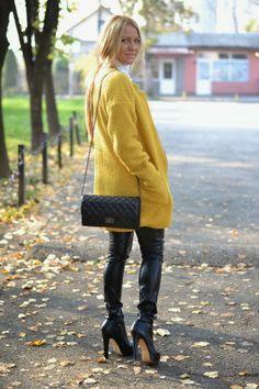 Balkan style by M. Oversized mustard coat