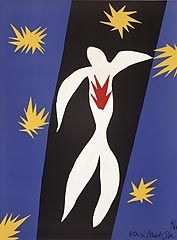Henri Matisse, French (1869-1954), Fall of Icarus, frontpiece from Verve , 1945, lithography reproduction of gouache cutout ©Successi...
