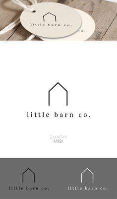 Simple Barn Logo. Shop Logo. Real Estate Business Logo. Modern Realtor Logo. House Logo Design. DIY Branding. Editable PSD Template. #0499. by CreativeKiosk on Etsy https://www.etsy.com/listing/468594515/simple-barn-logo-shop-logo-real-estate #realestatebranding