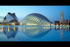 City of Arts and Sciences designed by Valencian architect Santiago Calatrava.