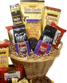 Coffee and Chocolate Lovers Gourmet Food Gift Basket