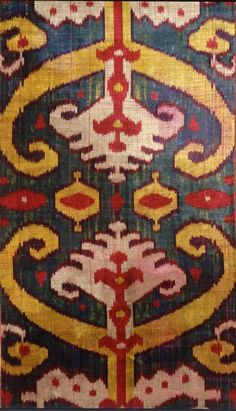Central Asian ikat. Rau collection at the Victoria and Albert Museum. via the strutting peacock