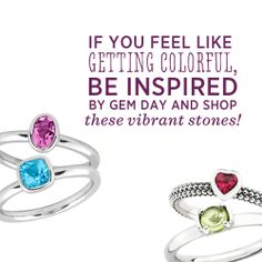 We're celebrating gem day with these pretty sparklers! #QIn magazine