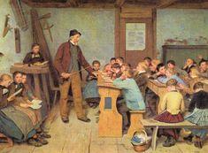 Scuola di Albert Anker Village nel 1848