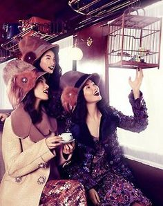 Tian Yi, Bonnie Chen and Miao Bin Si by Stockton Johnson for Vogue China Collections, F/W 2012