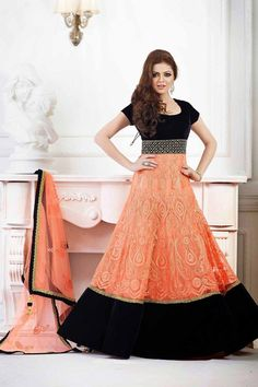 Look Gorgeous with Black and Orange Velvet and Net Anarkali Suit Shop Now @ http://zohraa.com/black-and-orange-velvet-and-net-anarkali-suit-z2480p100-57012-14.html SKU: Z2480P100-57012-14 Rs. 3,649/-