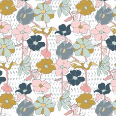 poppy and lucy by lynn clark design - a surface pattern and illustration studio based in grand rapids, michigan #surfacedesign, #pattern