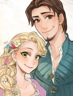 Rapunzel & Flynn by Ano