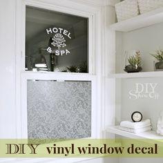 DIY vinyl window decal tutorial at diyshowoff.com