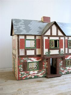 Hoot!  I have this same doll house...got it ag Goodwill for $8. Vintage Lighted Doll House