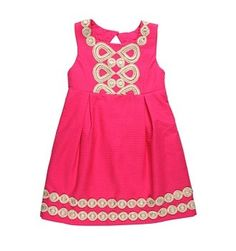Girls LILLY PULITZER Pink MINI ADELSON DRESS Party Dress 8 | eBay