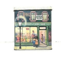 The Silver Crane Company Vintage Tin The Sweet Candy Shop