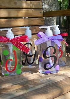 Personalized Hand Sanitizers. $5.00, via Etsy. Would be an easy DIY!