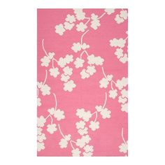 Blooms Rug in Flamingo Pink f