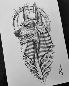 baelaehty - 0 results for tattoos Tattoo Design Drawings, Tattoo Sleeve Designs, Tattoo Sketches, Art Sketches, Sleeve Tattoos, Egypt Tattoo Design, Anubis Tattoo, Dark Art Drawings, Pencil Art Drawings