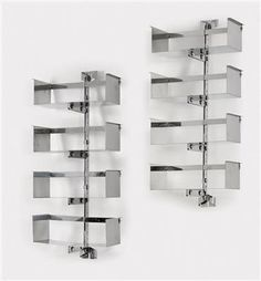 A pair of wall shelves, Model No. P700, designed by Vittorio Introini,