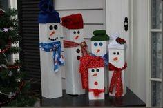 How to make wooden snowmen