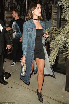 Wow: Eiza Gonzalez stepped out on Thursday in a strapless black romper to celebrate at West Hollywood hot spot Catch after landing role in James Cameron project