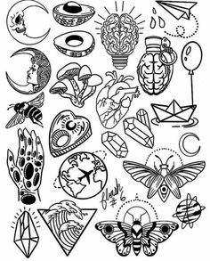 tattoo flash art Thank you everyone that participated in my flash tattoo sale and helped me to promote and celebrate the new flash sheets! These designs Flash Art Tattoos, Tattoo Flash Sheet, Body Art Tattoos, How To Draw Tattoos, Kritzelei Tattoo, Doodle Tattoo, Tattoo Wave, Tattoo Maori, Tattoo Pics