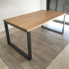 Dinning Table Design, Diy Dining Room Table, Office Table Design, Metal Dining Table, Welded Furniture, Diy Furniture Plans, Home Furniture, Furniture Design, Home Room Design