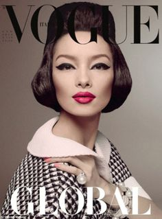 Chinese model Fei Fei Sun makes fashion history to become the first Asian model to grace the cover of Italian style bible, Vogue Italia | Mail Online