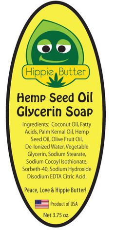 3.75 OZ BAR 12 BARS / CASE NATURAL INGREDIENTS Hippie Butter Hemp Seed OilSoapis rich, creamy and has a fresh, clean, guava and grapefruit scent. Our Hemp Seed OilSoapcontains high quality, highly
