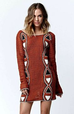 ergahandmade: Crochet Dress + Diagram looks like aboriginal design. instuctions in greek:(