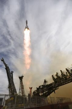 Soyuz TMA-18M liftoff ESA astronaut Andreas Mogensen, commander Sergei Volkov and Aidyn Aimbetov were launched into space on 2 September at 04:38 GMT (06:38 CEST) from Baikonur cosmodrome,...