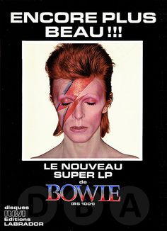 RIP Mister Bowie, you are a genius, a true inspiration, singer, actor, painter, thank you for your masterpiece life, you are a legend now...and a legend never dies!!!