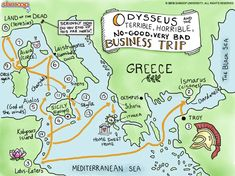 The Odyssey, a famous Greek poem focuses on the character of Odysseus. Can we still trace Odysseus' long and complicated journey home today? Roman Mythology, Greek Mythology, History Memes, History Facts, Greek Memes, Greek Gods And Goddesses, Ancient Greece, Ancient History, Middle School