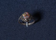 Rhoda Wager. Gold, silver and opal ring.
