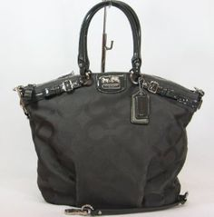 Coach Madison Op Art Jaquard Lindsey Satchel Handbag Bag Purse Tote 18645 Flint   A spacious and versatile satchel crafted in richly textured jacquard.  ...More Detail >> http://astore.amazon.com/pin-handbags-20/detail/B006PIGHF8 Price: $308.00