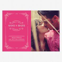 Vintage Novel Save the Date www.lovevsdesign.com