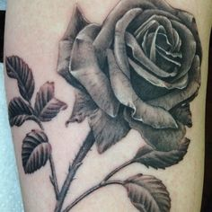 This black and grey rose was done by Allen at True at Heart Tattoo in Lake Forest, CA. I'm in awe with the details!