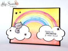 My Sweet Things: SCRAPLIFTDÚO |  Tarjeta gatete y arcoiris